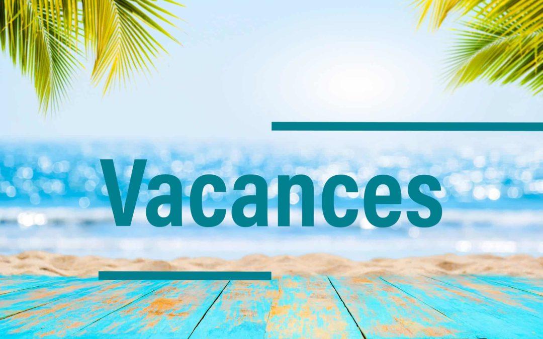 Vacances été 2020 institut de beauté Emeline Esthétique, Chanverrie La Verrie, esthéticienne
