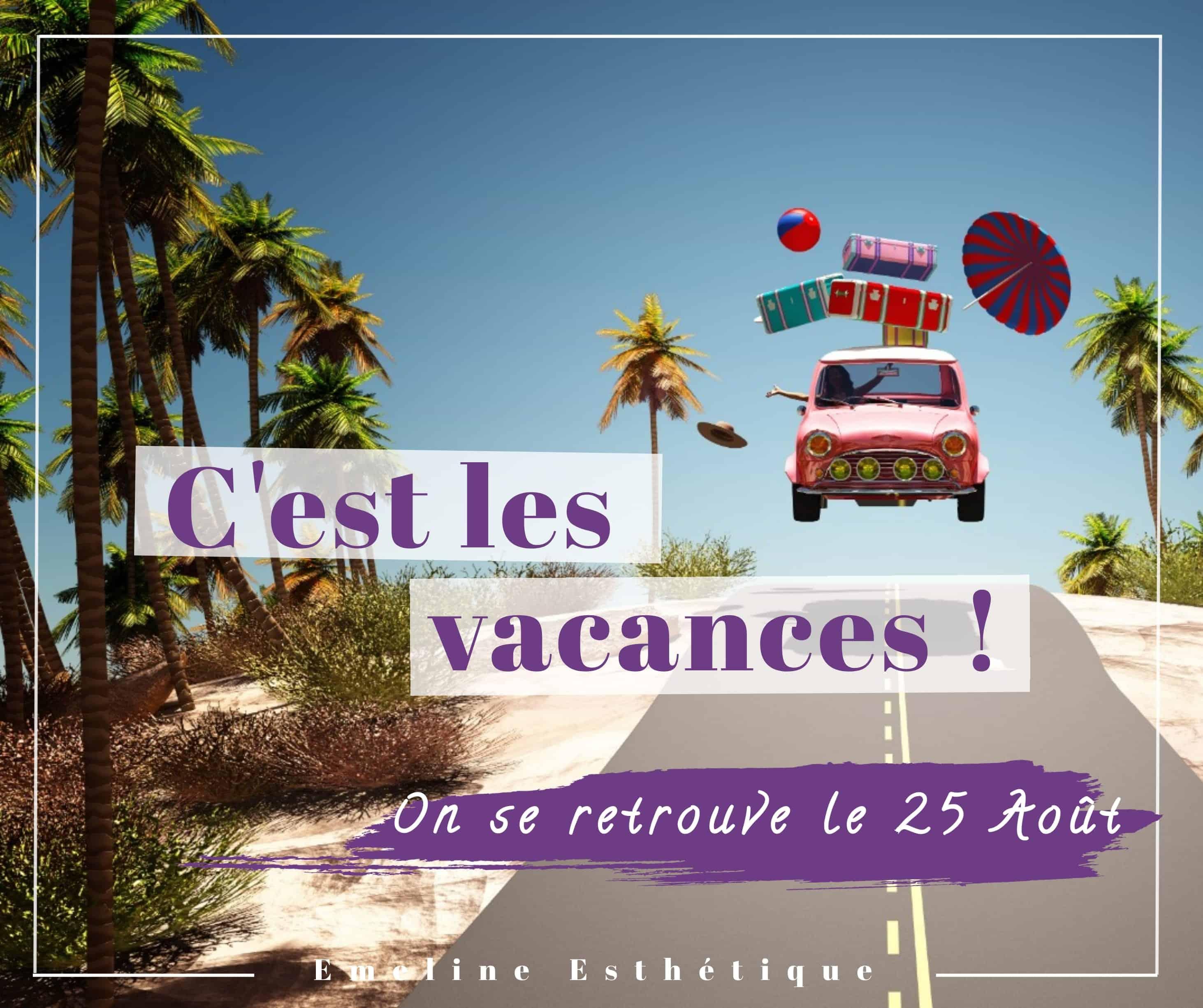Photo pour annoncer les vacances d'été, Institut de beauté Emeline Esthétique 85130 La Verrie